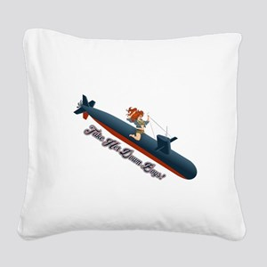Sub Pin-Up Square Canvas Pillow