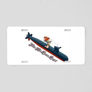 Sub Pin-Up Aluminum License Plate