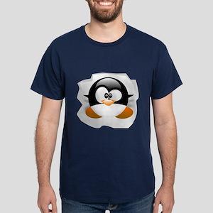 Tux looking up Dark T-Shirt