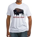 Buffalos Rule Fitted T-Shirt