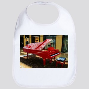 Simply red: grand piano Baby Bib