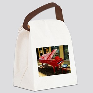 Simply red: grand piano Canvas Lunch Bag
