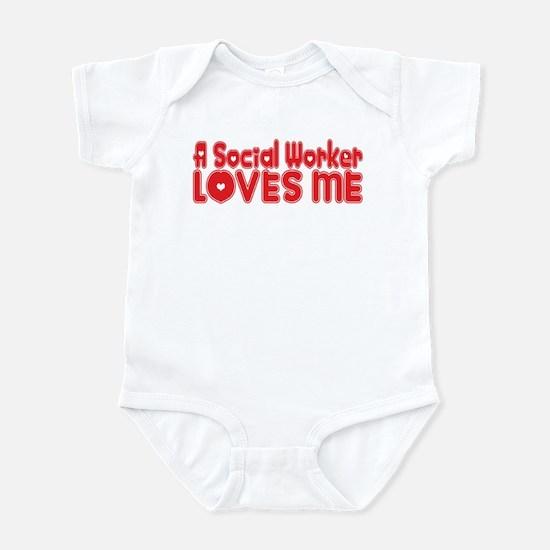 A Social Worker Loves Me Infant Bodysuit