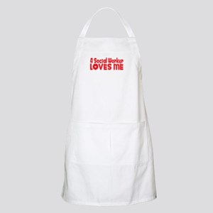 A Social Worker Loves Me BBQ Apron