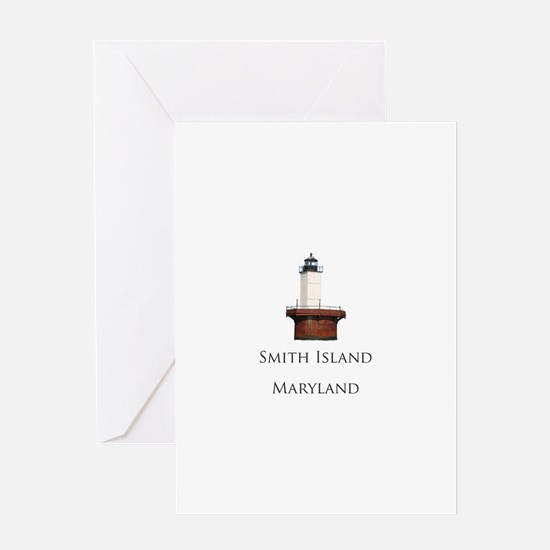 """Smith Island"" Lighthouse Greeting Card"