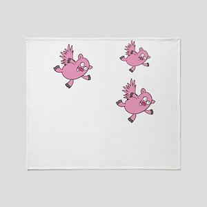 flying pigs Throw Blanket