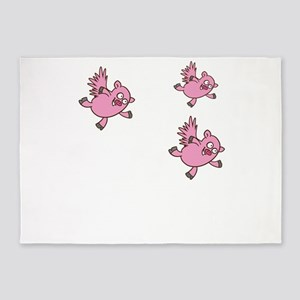 flying pigs 5'x7'Area Rug