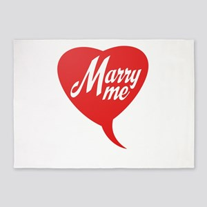 Marry me 5'x7'Area Rug