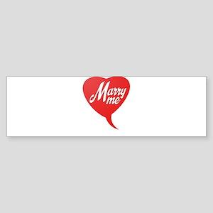 Marry me Bumper Sticker