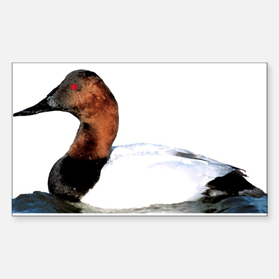 Canvasback Duck Rectangle Decal