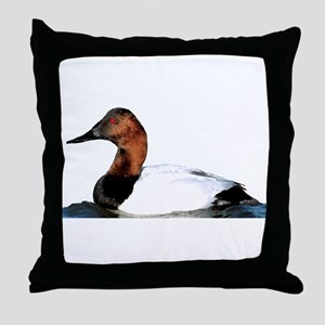 Canvasback Duck Throw Pillow