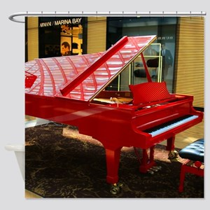 Simply red: grand piano Shower Curtain
