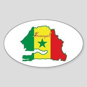 Cool Senegal Oval Sticker