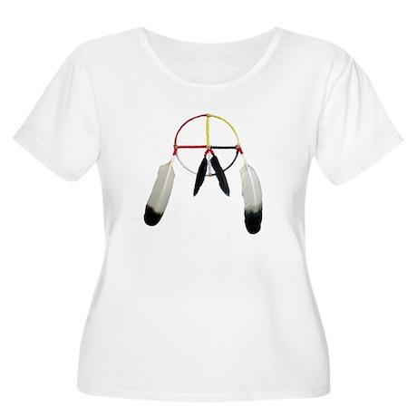 Medicine Wheel Women's Plus Size Scoop Neck T-Shir