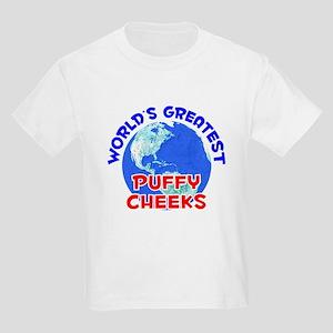 World's Greatest Puffy.. (E) Kids Light T-Shirt