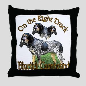 Bluetick Coonhound Gifts Throw Pillow