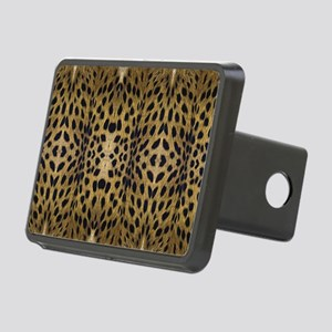 Brown Leopard Pattern Rectangular Hitch Cover