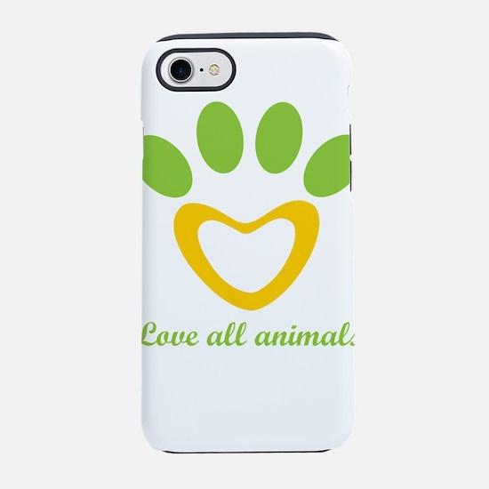 love all animals iPhone 8/7 Tough Case