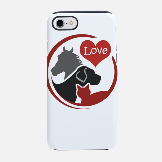 love all animals iPhone 8/7 Tough Case