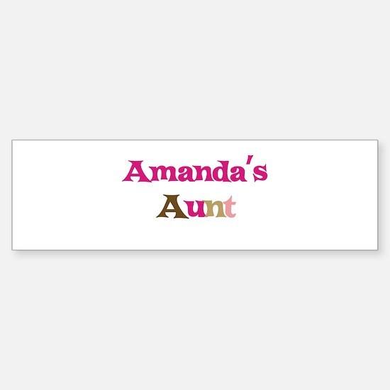 Amanda's Aunt Bumper Bumper Bumper Sticker