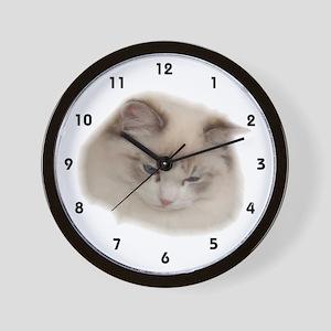 Ragdoll Wall Clock Seal Lynx Bicolor