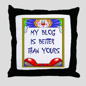 BLOGGERS Throw Pillow