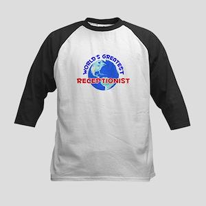 World's Greatest Recep.. (E) Kids Baseball Jersey