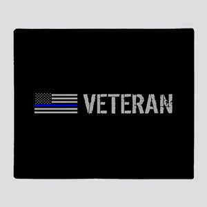 Police: Veteran (Thin Blue Line) Throw Blanket