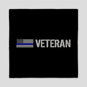 Police: Veteran (Thin Blue Line) Queen Duvet