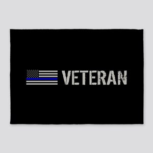 Police: Veteran (Thin Blue Line) 5'x7'Area Rug