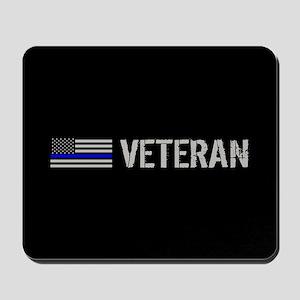 Police: Veteran (Thin Blue Line) Mousepad