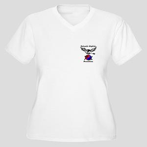 NHA Shooters Women's Plus Size V-Neck T-Shirt