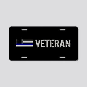 Police: Veteran (Thin Blue Aluminum License Plate