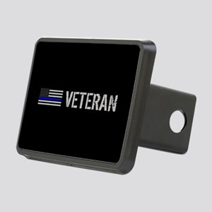 Police: Veteran (Thin Blue Rectangular Hitch Cover