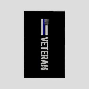 Police: Veteran (Thin Blue Line) Area Rug