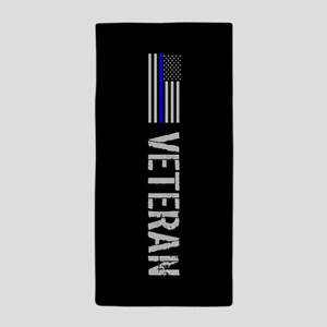 Police: Veteran (Thin Blue Line) Beach Towel