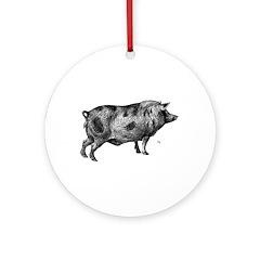 Pig / Hog Keepsake (Round)
