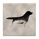 Cave Dog Labrador Retriever Tile Coaster