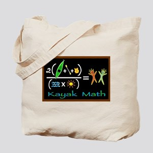 kayak math blackboard Tote Bag