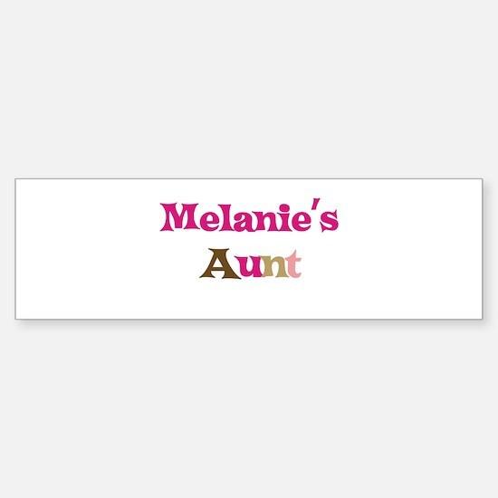 Melanie's Aunt Bumper Bumper Bumper Sticker