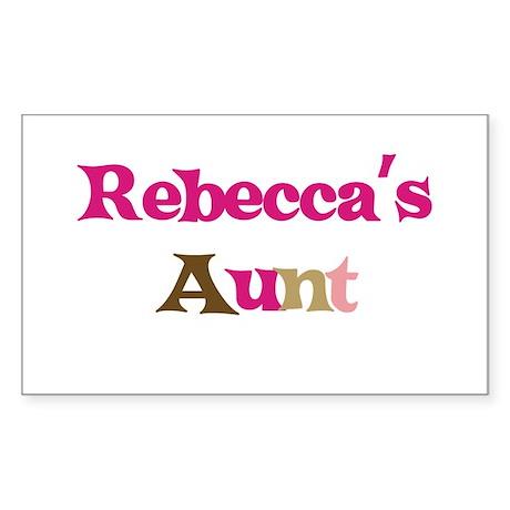 Rebecca's Aunt Rectangle Sticker