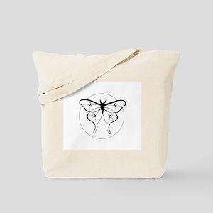 Black & White Luna Moth Tote Bag
