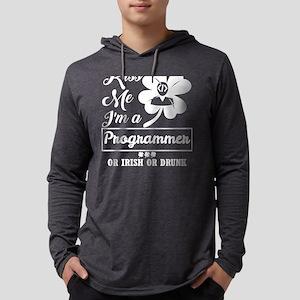 Kiss Me Im Programmer Irish Dr Long Sleeve T-Shirt