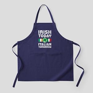 Irish Today Italian Tomorrow Apron (dark)