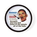 anti-Obama Fool the People Wall Clock