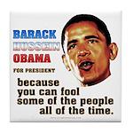 anti-Obama Fool the People Tile Coaster