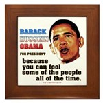 anti-Obama Fool the People Framed Tile