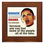 anti-Obama Fool the People Framed Tile