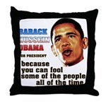 anti-Obama Fool the People Throw Pillow