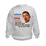 anti-Obama Fool the People Kids Sweatshirt
